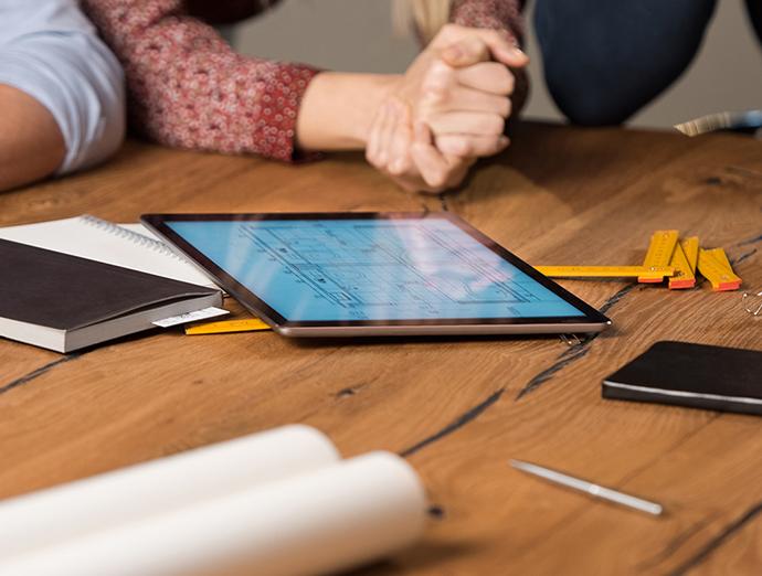 iPad and table