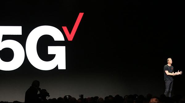 Verizon CEO Hans Vestberg on the CES 2019 keynote stage