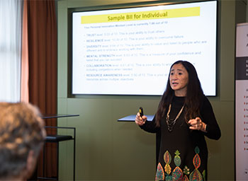 Gigi Wang, Managing Partner, MG Team, presents during KTO Masterclass.