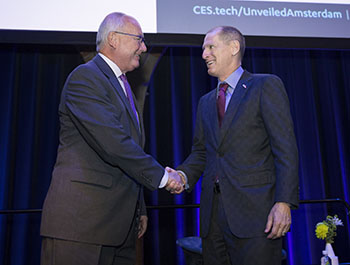 CTA's Gary Shapiro opens CES Unveiled Amsterdam with Hon. Peter Hoekstra, United States Ambassador to the Netherlands