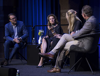 Prince Constantijn, StartupDelta, Corinne Vigreux, TomTom, Sarah Lucas, Mosa Meat and Sjaak Deckers, GTX Medical present the Tech for Good Fireside Chat at CES Unveiled Amsterdam