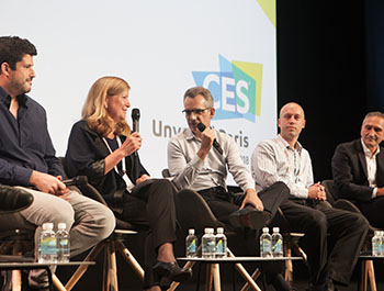 Industry leaders discuss advancements in artificial intelligence during the  conference programming at CES Unveiled Paris