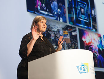 CTA's Karen Chupka presents CES 2019 Preview & Trends in Technology session at CES Unveiled Paris