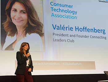 Valérie Hoffenberg, President and Founder of the Connecting Leaders Clubs, at CES Unveiled Paris