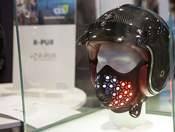 New advancement in wearble technology developed to reduce poluution intake on display at CES Unveiled Paris