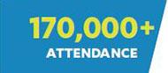 170,000+ Attendance