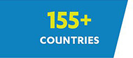 155+ Countries