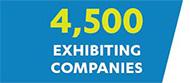 4,500+ Exhibiting Companies