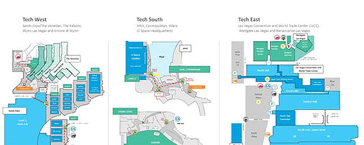 click through ces show venues - Floor Map Design